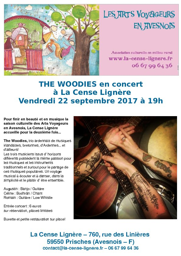THE WOODIES en concert à la Cense Lignère le 22 septemble 2017 à 19h